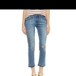 HP DL 1961 high rise cropped frayed hem jeans